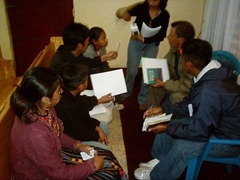 One of the study groups I put together in Guatemala in order to figure out where they were.