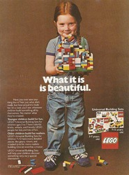A Lego ad from the 1980s. Hard to imagine this in any magazines today, isn't it?