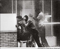 Civil Rights protesters were famously non-violent. Even when sprayed with fire hoses.