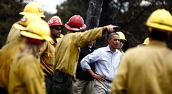 President Obama Visits Wild Fire Sites