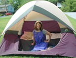 "Yes, she lived in a tent during ""that time of the month""."