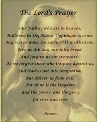The language of the Lord's Prayer is slightly less out-of-date than White Jesus here.