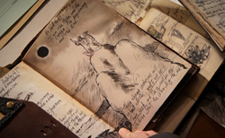Dexter 0612-Gellar's Sketch of the Two Witnesses and the Lamb