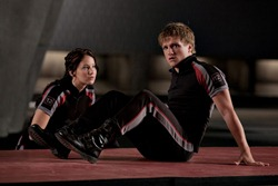 It's all about the Game. Katniss and Peeta become Noble Savages.